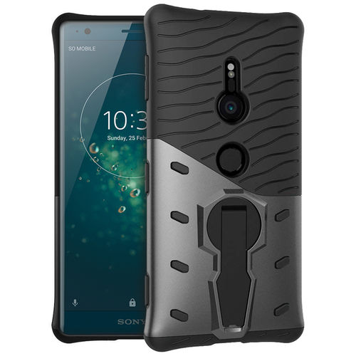 Slim Shield Tough Shockproof Case Stand for Sony Xperia XZ2 - Grey